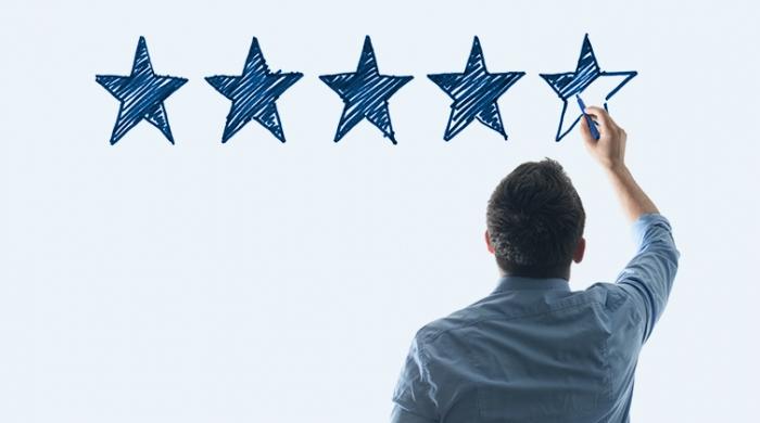 5 stelle per qualità di servizio al cliente