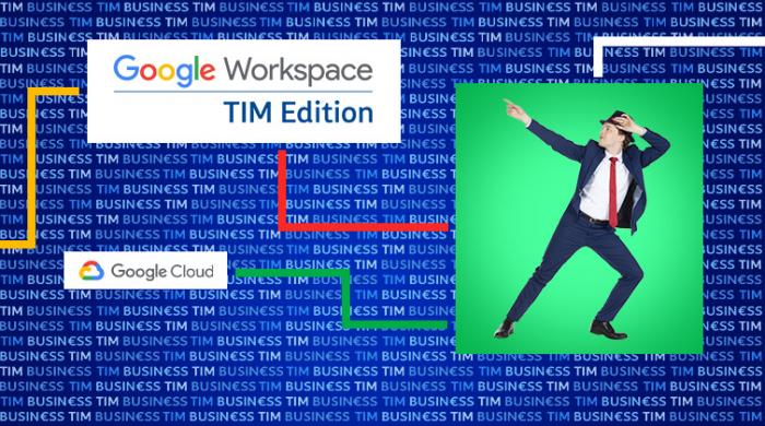 Il ballerino di TIM sceglie Google Workspace Business Standard