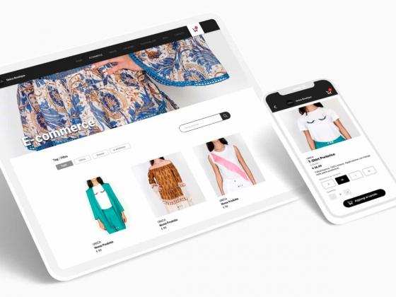 Una pagina web di e-commerce