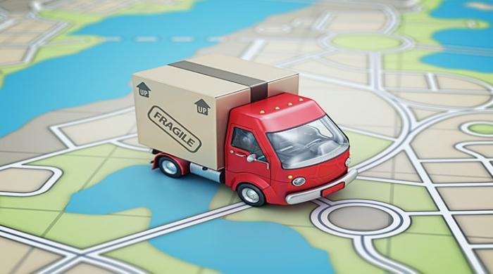 Camion monitorato dentro una mappa